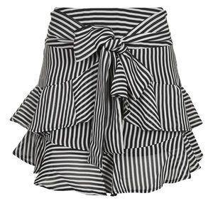 Topshop Striped Mini Skirt